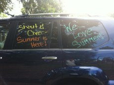 Last Day of School Car Decorating!