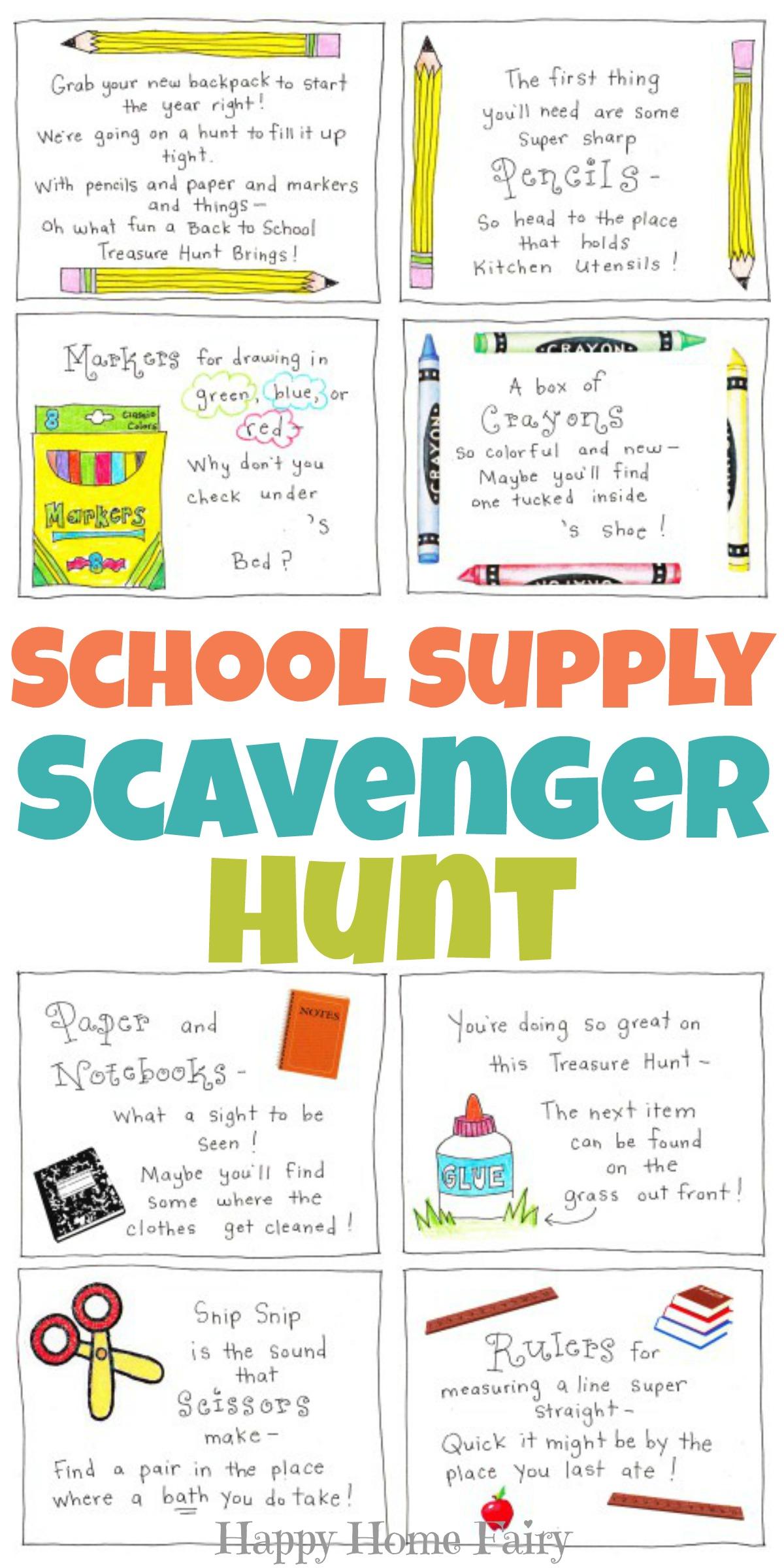 image about Free Printable Scavenger Hunt identify College or university Offer Scavenger Hunt - Totally free Printable! - Joyful Property
