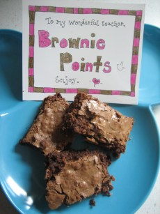 Brownie Points – For the Teacher