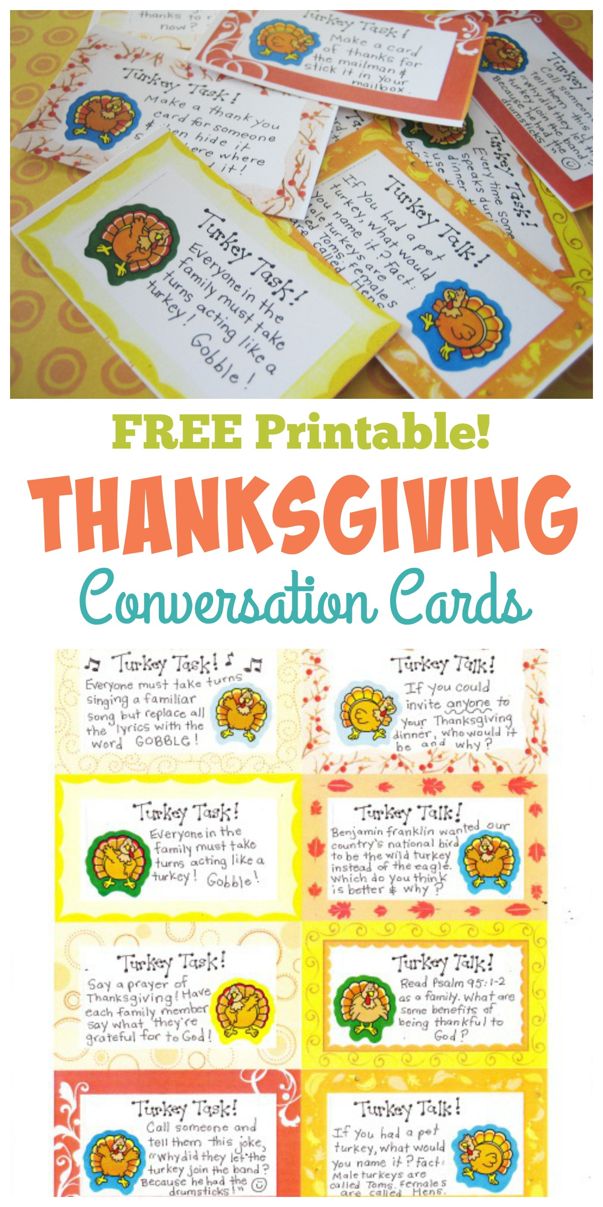Thanksgiving Conversation Cards