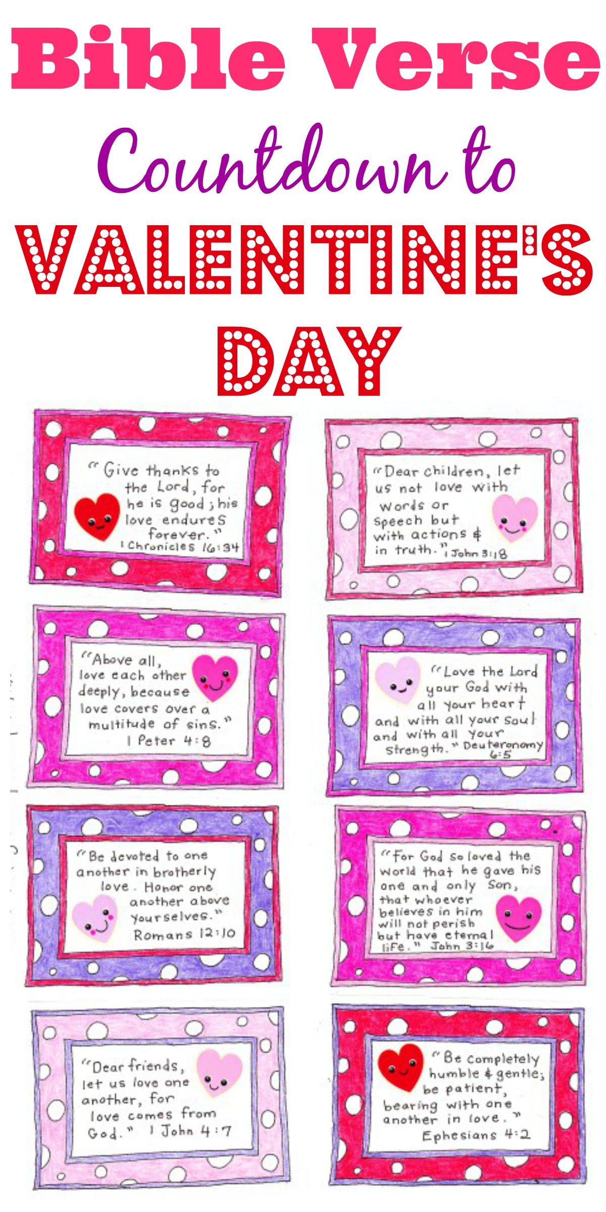 A Valentine S Day Countdown Free Printable Happy Home Fairy