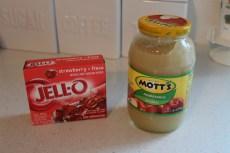 A Valentine Recipe – Applesauce Jell-O