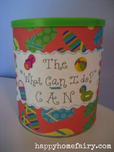 The What Can I Do? Can – FREE Printable
