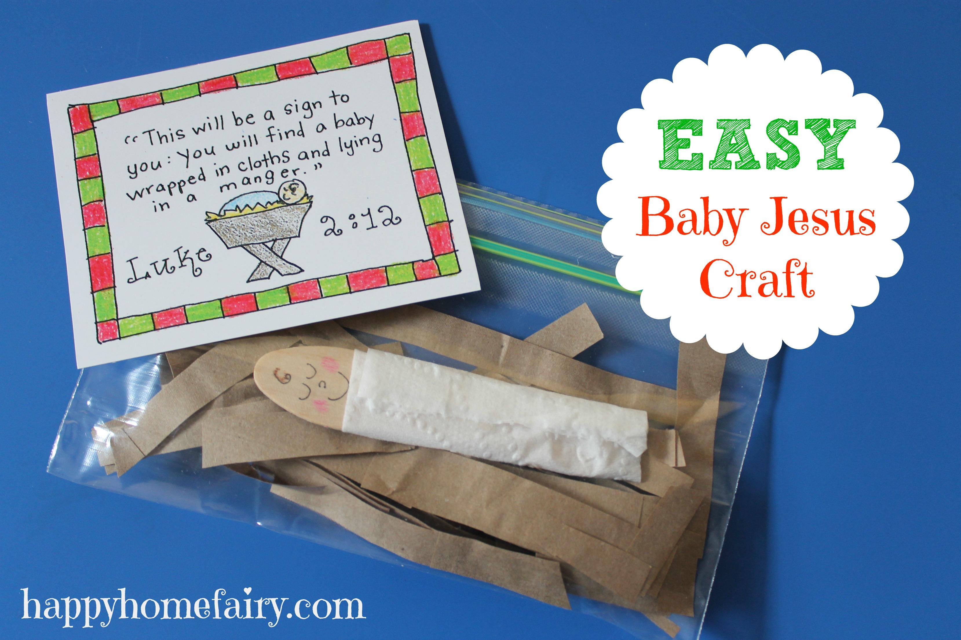 Easy Baby Jesus Craft