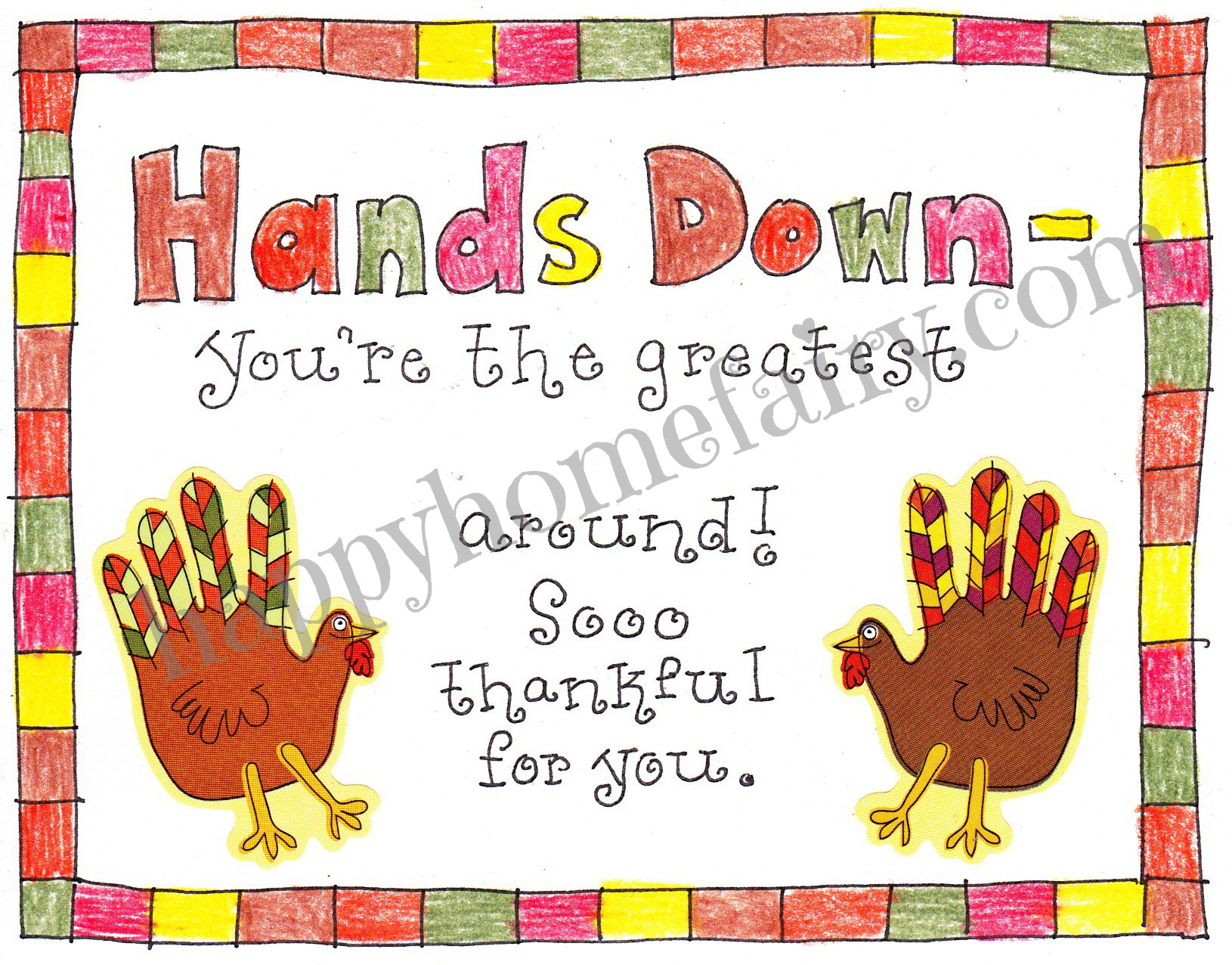 Thankful Handprint Turkey Craft