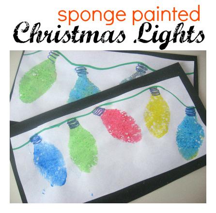 christmas-lights-sponge painted