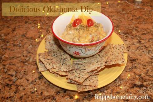 delicious and really easy Oklahoma Dip at happyhomefairy.com - perfect for New Year's Eve!