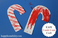 Easy Candy Cane Craft