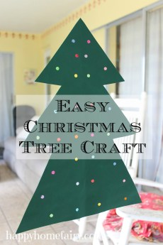 Easy (and soooo fun) Christmas Tree Craft