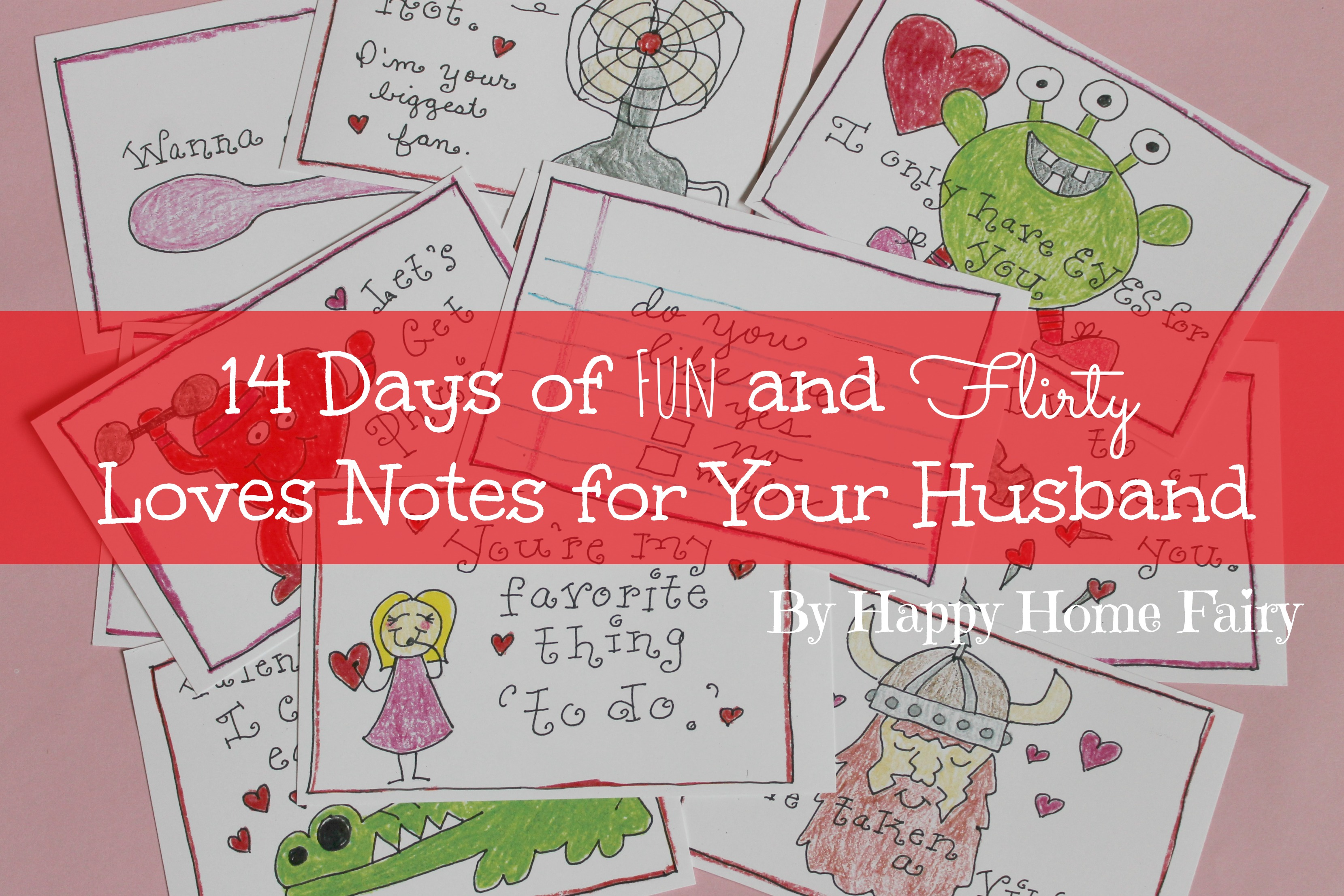 14 Days of Fun and Flirty Love Notes for Your Husband FREE – Free Printable Valentine Cards for Husband