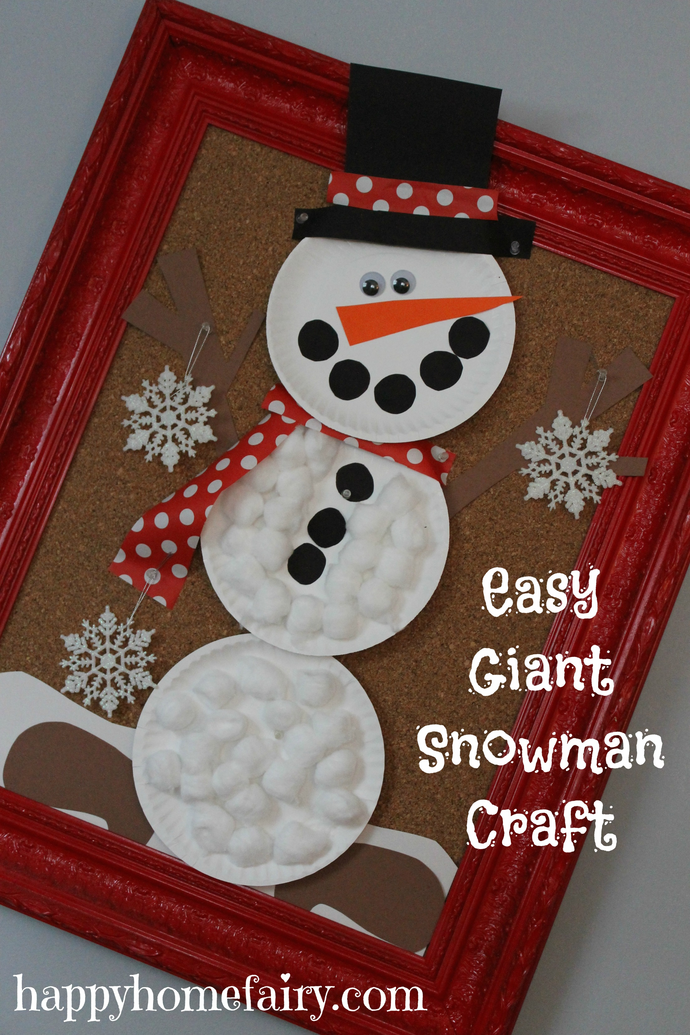 Easy Snowman Snack: Easy Giant Snowman Craft