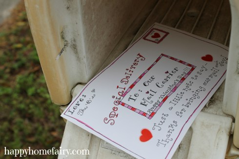 free printable valentine for the mail carrier