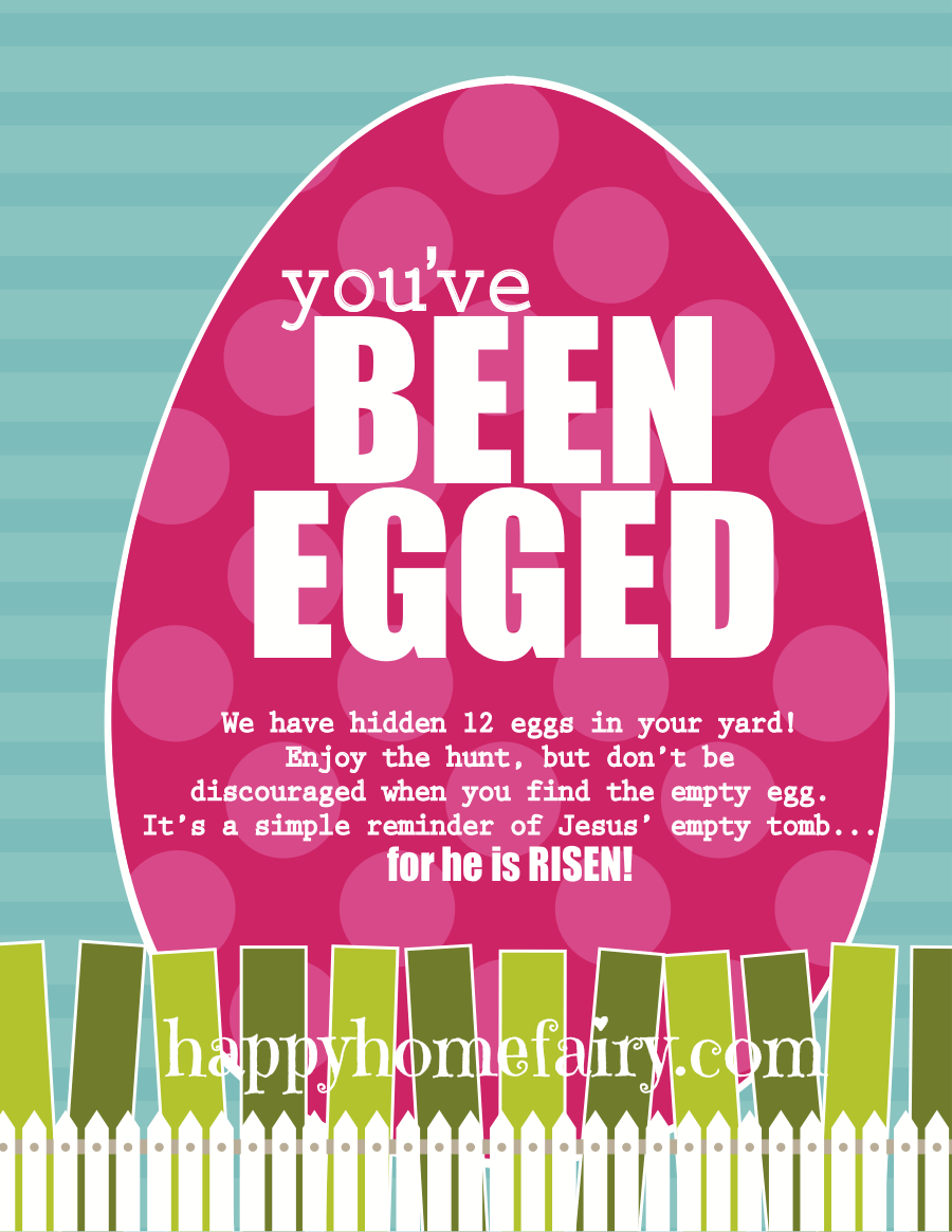photograph regarding You Ve Been Egged Printable titled Youve Been Egged - He Is Risen Design (Totally free Printable