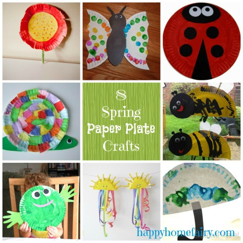 paper plate crafts for spring - so cute and easy! happyhomefairy.com