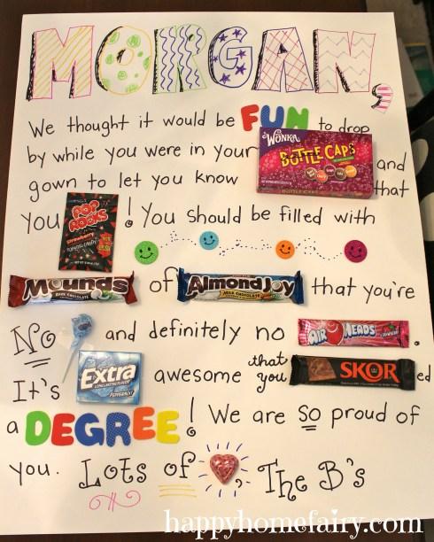 candy gram for graduate - so cute and fun!