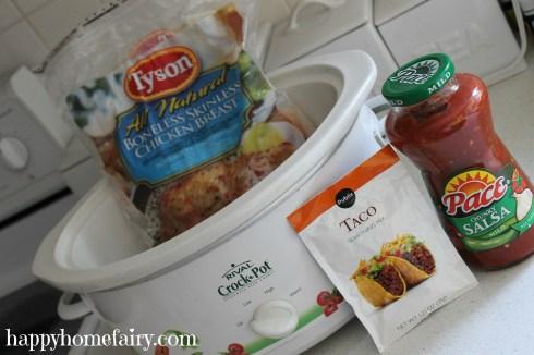 crockpot salsa chicken yum-o