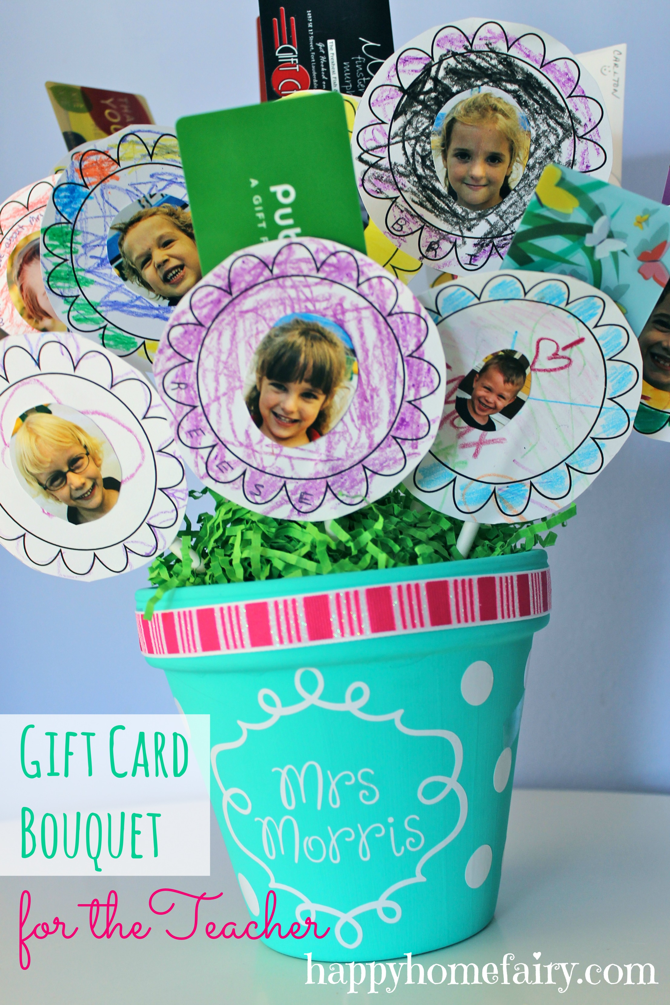 Gift card bouquet for the teacher happy home fairy gift card bouquet for the teacher negle Gallery