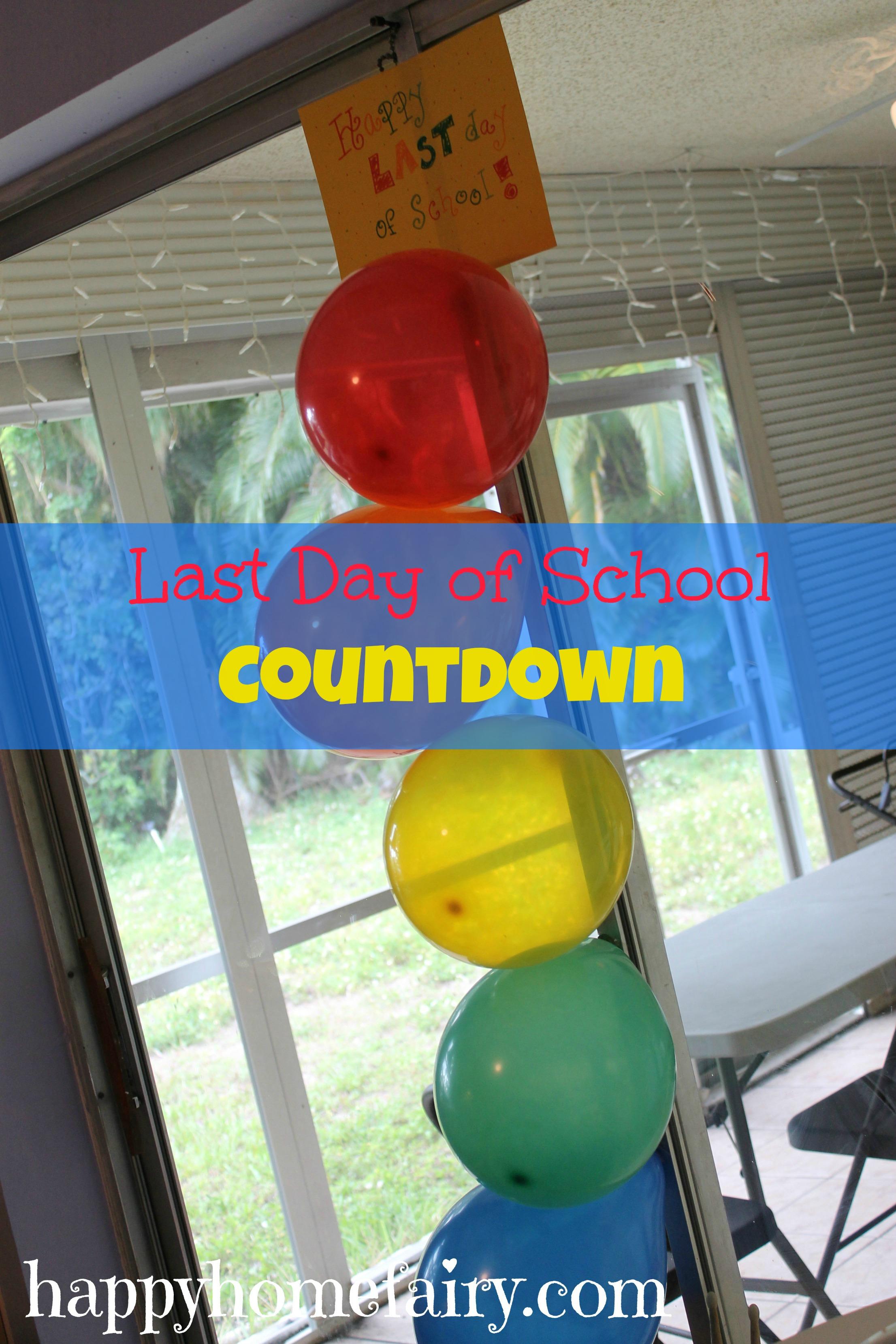 Last Day Of School Countdown