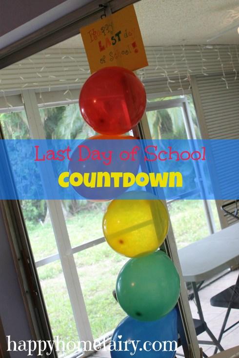 last day of school countdown at happyhomefairy.com