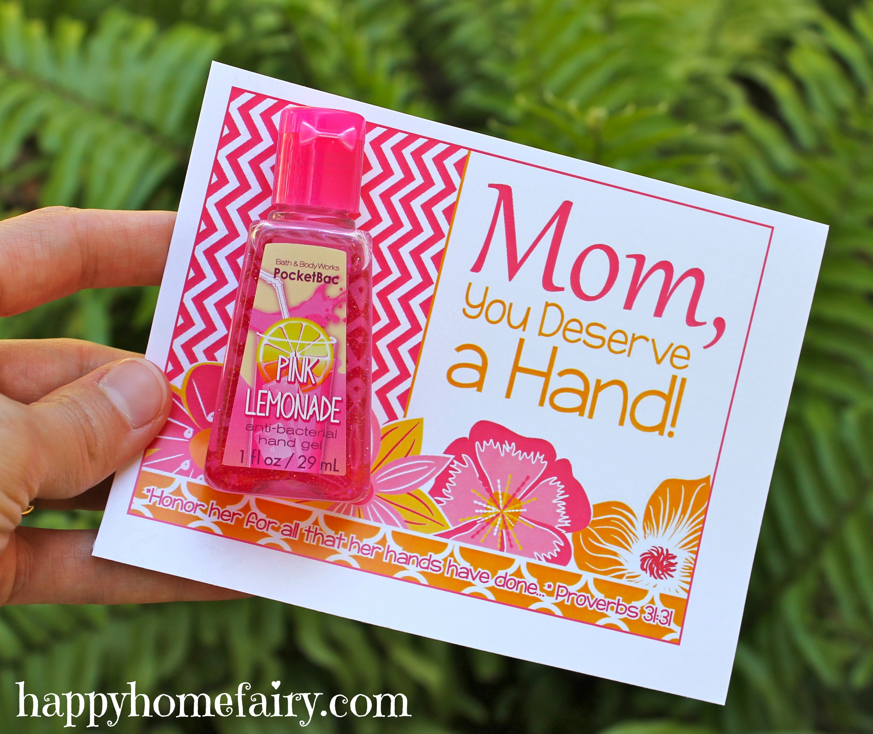 Easy Mother 39 S Day Gift Idea Free Printable Happy Home