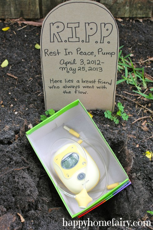 funeral for my pump at happyhomefairy.com3