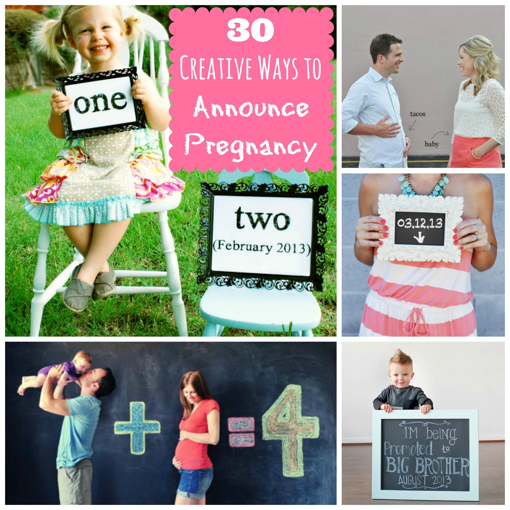2faf49dfef17a 30 Creative Ways to Announce Pregnancy - Happy Home Fairy
