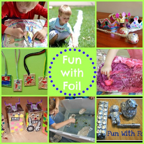 fun with foil - so many easy activities using foil!