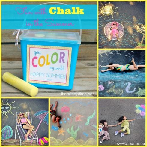 great summer chalk ideas at happyhomefairy.com