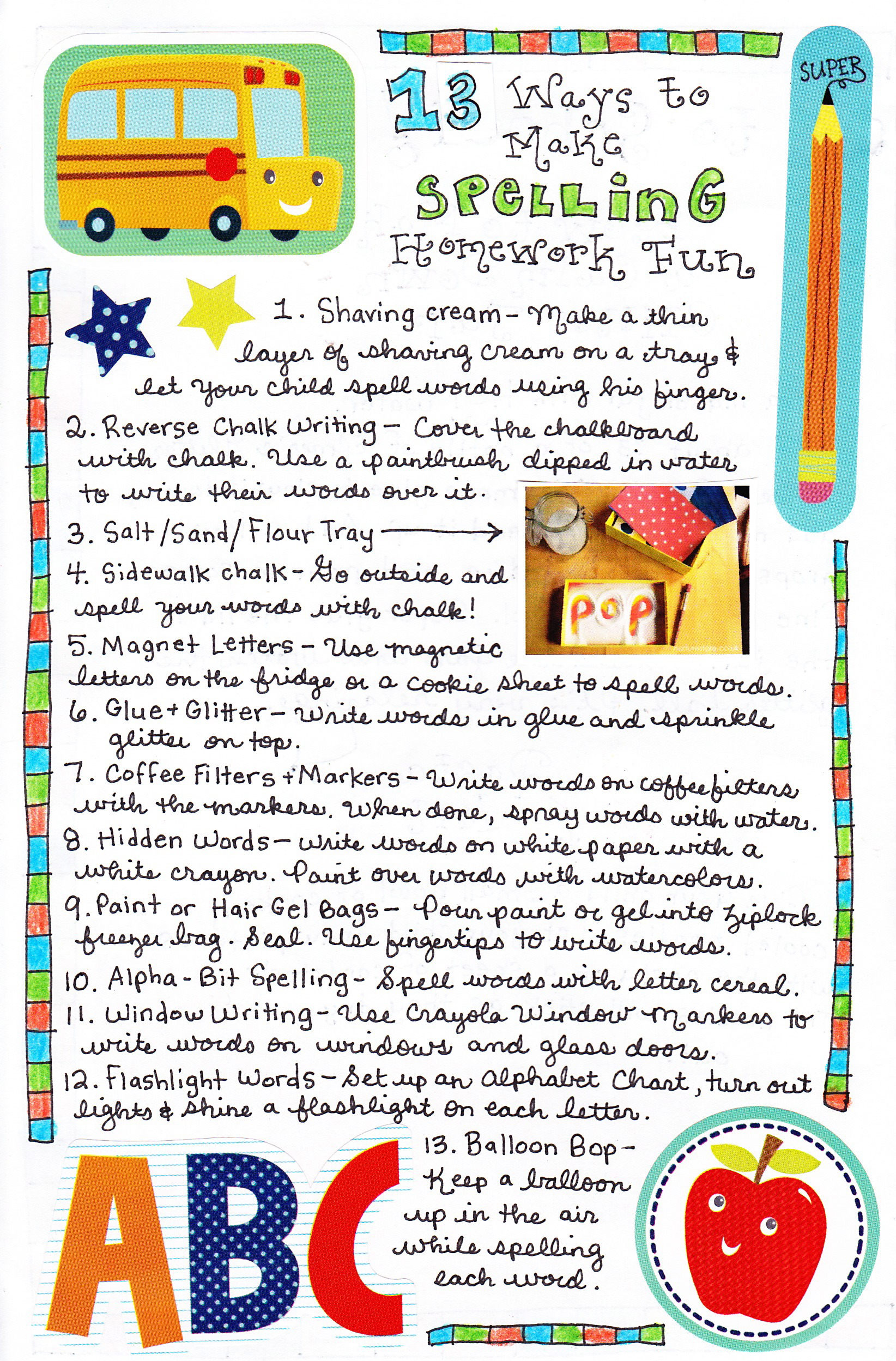 13 Ways to Make Spelling Practice Fun - Happy Home Fairy