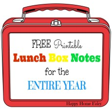 FREE Printable Lunch Box Notes for the ENTIRE YEAR