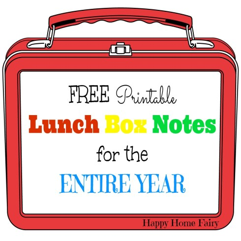 FREE Printable Lunch Box Notes for the ENTIRE YEAR! This is AMAZING! Includes all the major holidays! I love putting a little note in my kid's lunch box!