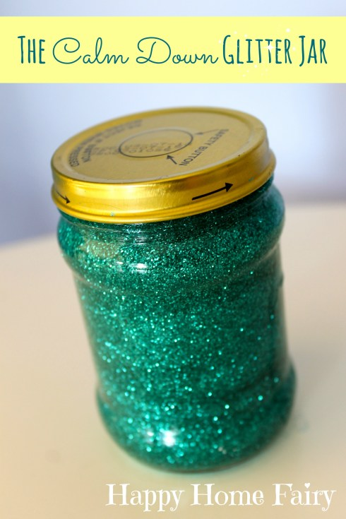 the calm down glitter jar - a neat way to help an emotional child calm down!