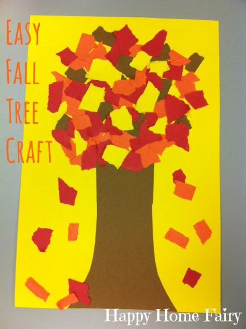easy fall tree craft!