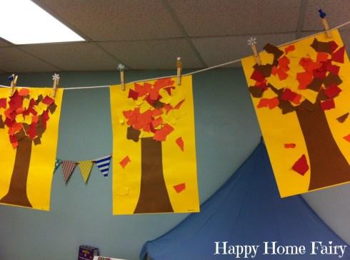 easy fall tree craft