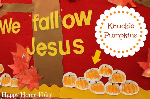 knuckle pumpkins - SUCH a cute and simple little craft for fall!