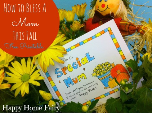 This is SOOO adorable! Buy a mum (just a few bucks at Lowe's), attach adorable free printable tag and give to a mom in your world who you would like to bless!