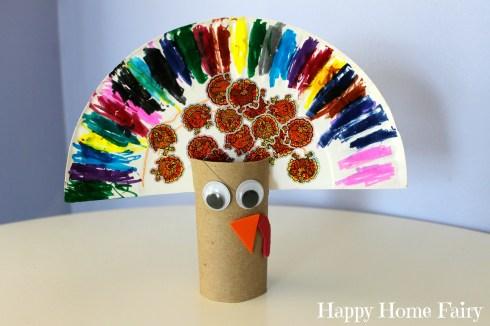easy turkey craft - happy buddy's