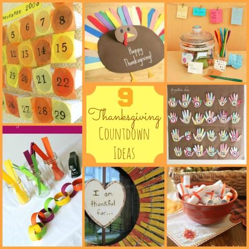 thanksgiving countdown ideas - these are all so creative and easy. I really want to get my family focused on gratitude this month!