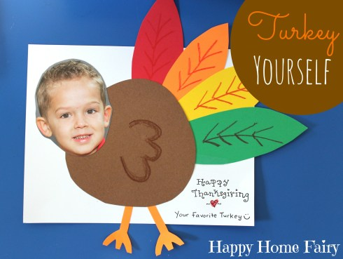 turkey youself - such a cute craft to send to grandma this thanksgiving!