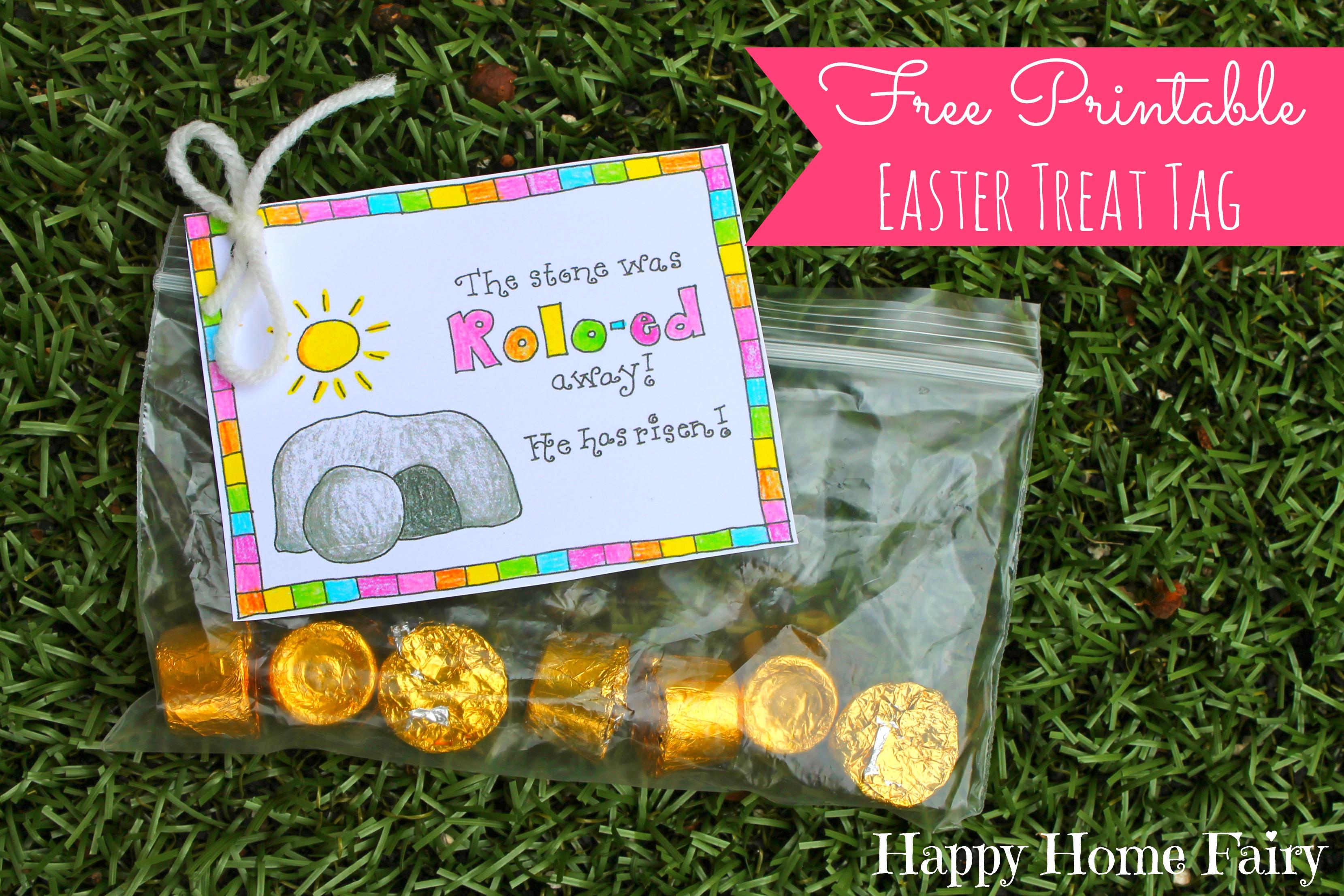 Free Printable Easter Treat Tag