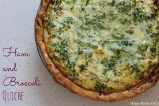 Recipe – Ham and Broccoli Quiche