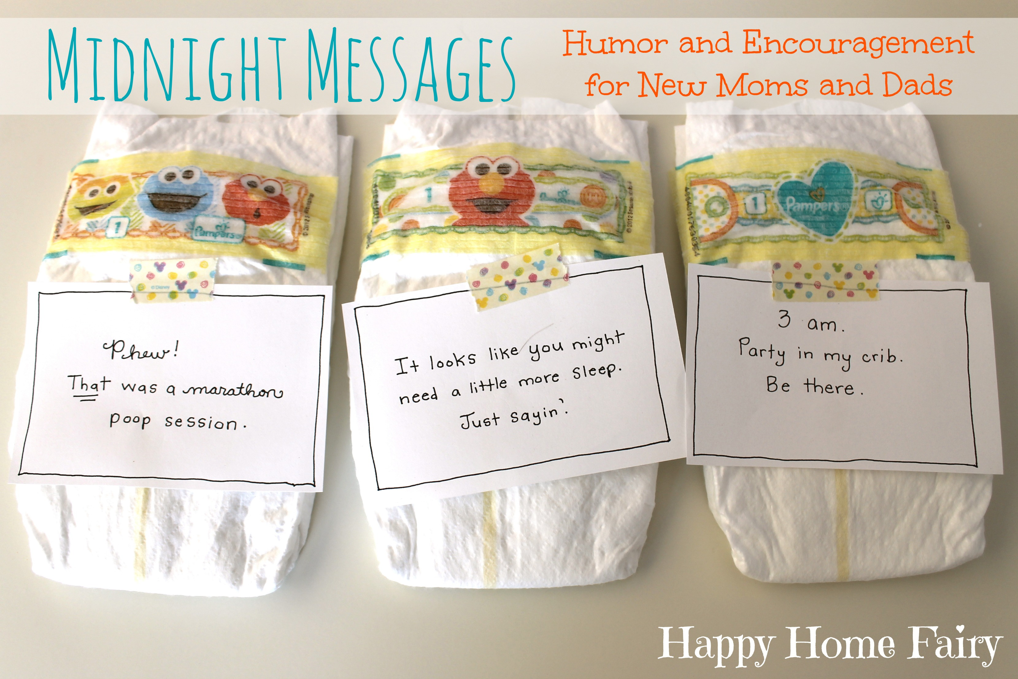graphic about Late Night Diaper Messages Free Printable called Midnight Messages for Fresh Mommies - Totally free Printable! - Satisfied