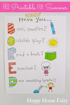 """How To Not Hear """"I'm Bored"""" This Summer – FREE Printable!"""
