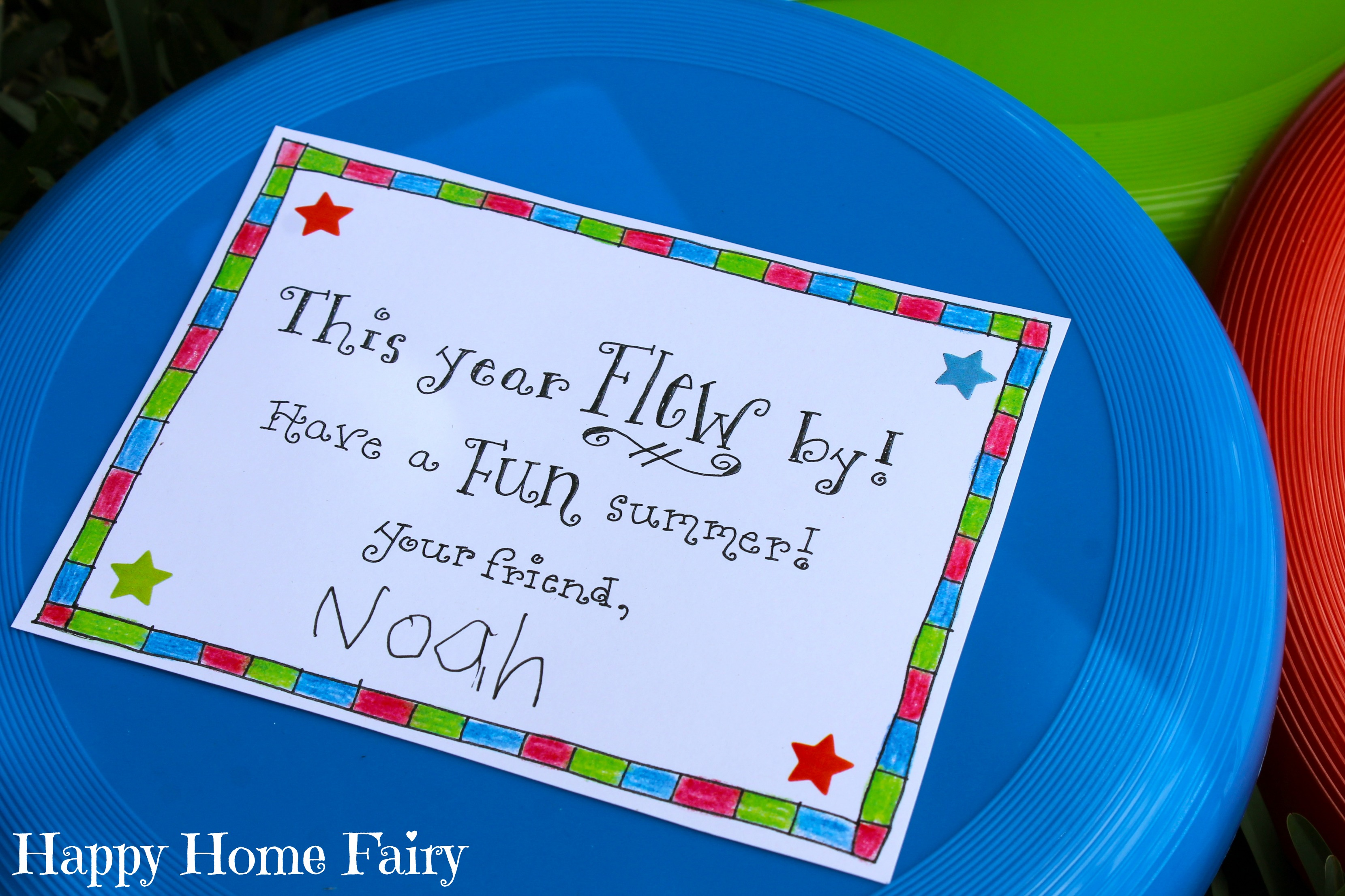 Easy End Of Year Student Gift Free Printable Happy Home