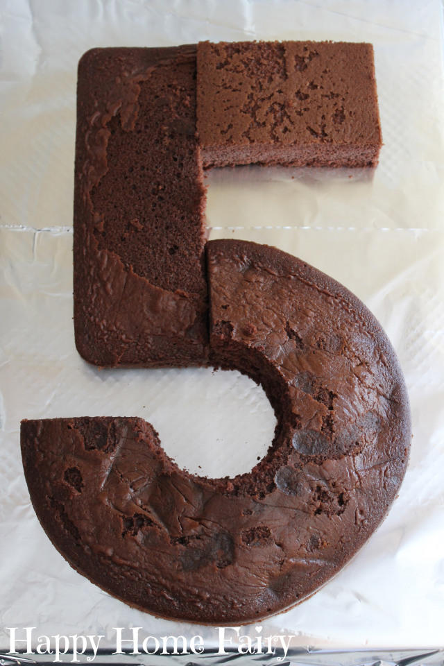 how to make a number 5 cake 7