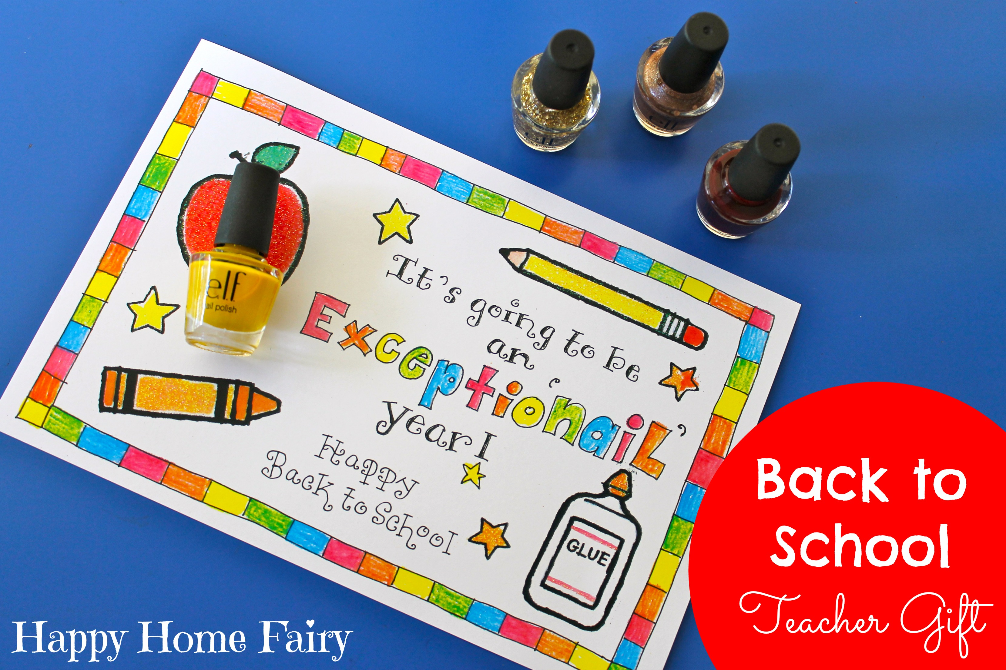 Easy teacher gift for the first day of school happy home fairy easy back to school teacher gift negle Choice Image