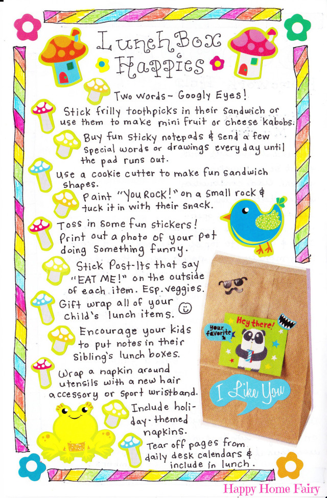 cute lunch ideas at happy home fairy