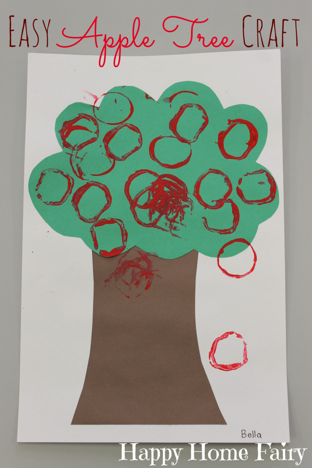 easy apple tree craft - adorable!