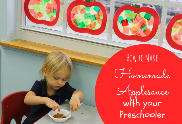 how to make homemade applesauce with your preschooler