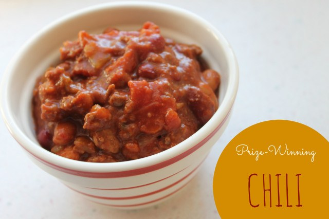 prize-winning chili - the perfect recipe for fall!